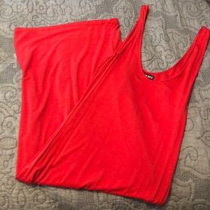 Coral Bodycon Midi Dress